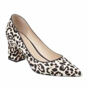 Mark Fisher Animal Print Block Heel Pump Sz 7